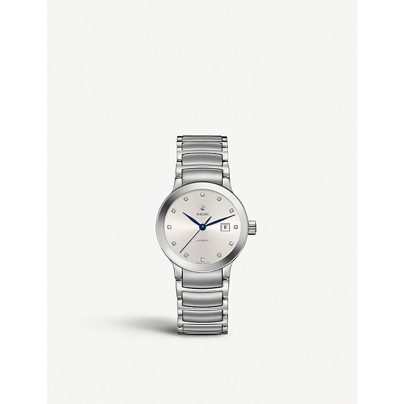 RADO R30027733 Centrix Stainless Steel And Diamond Watch in Silver