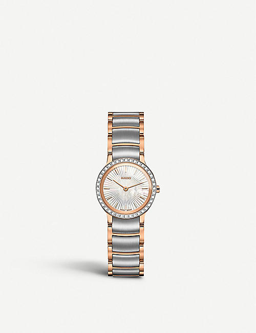 RADO R30218923 Centrix stainless steel and diamond watch