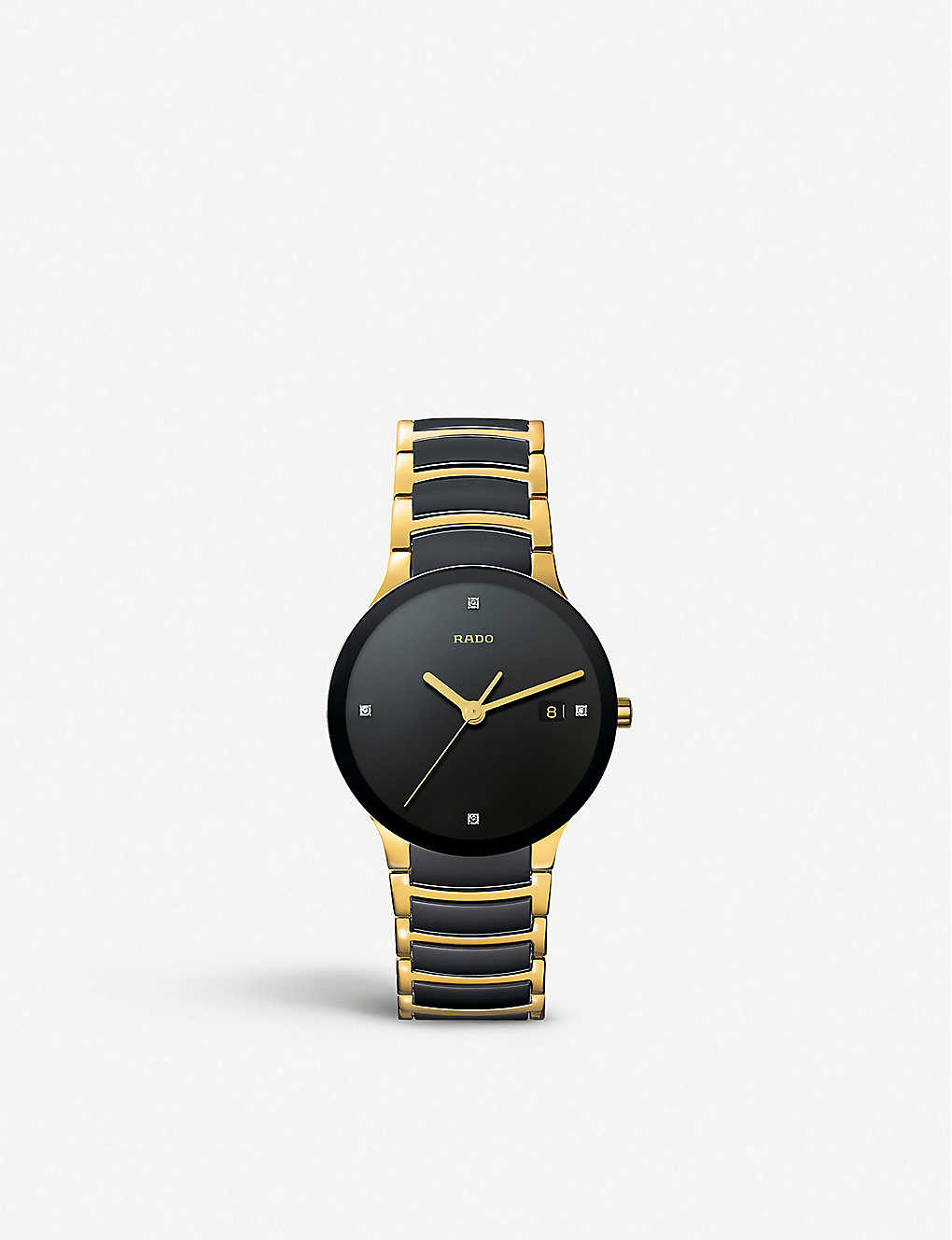 R30929712 Centrix Centrix gold and black ceramic watch