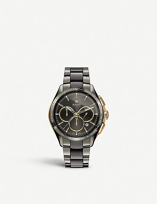 RADO R32118102 Hyperchrome ceramic chronograph watch