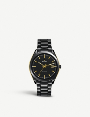 RADO R32253152 HyperChrome Automatic black and gold-toned watch