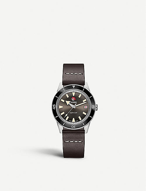 RADO R32500153 Captain Cook ceramic stainless steel and leather watch