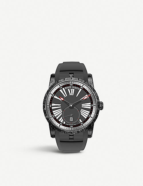 ROGER DUBUIS RDDBEX0510 Excalibur 42 titanium, carbon and rubber automatic watch