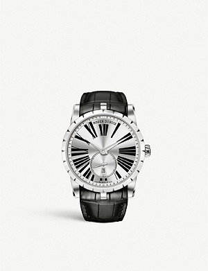 ROGER DUBUIS RDDBEX0536 Excalibur stainless steel and leather watch