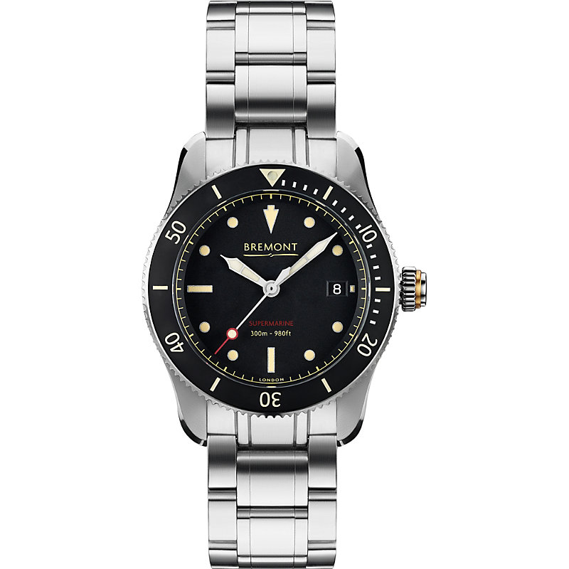 BREMONT S301Bkbr Supermarine Automatic Stainless Steel Watch in Silver
