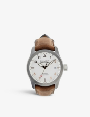 Bremont 37RG SOLO STAINLESS STEEL AND LEATHER WATCH