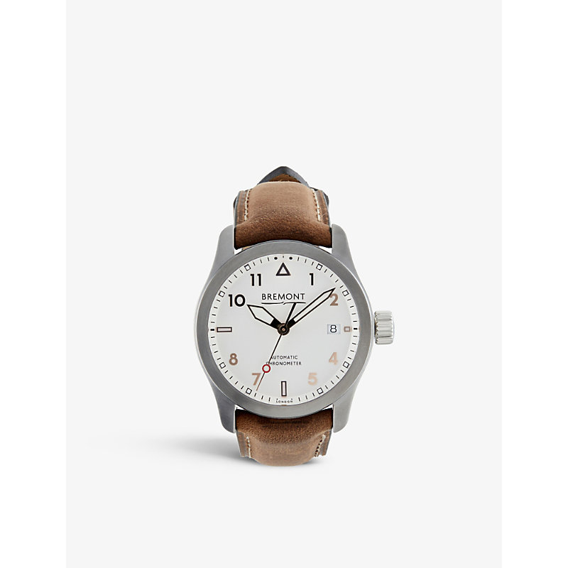 BREMONT 37Rg Solo Stainless Steel And Leather Watch in Brown