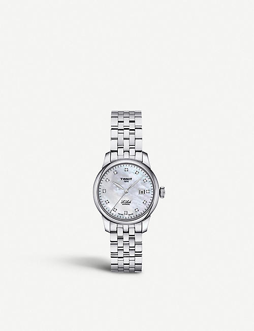 TISSOT T006.207.11.116.00 Le Locle diamond, mother-of-pearl and stainless steel watch