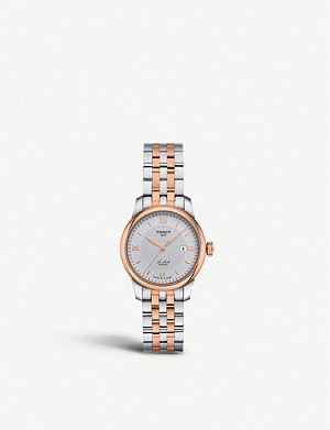 TISSOT T006.207.22.038.00 Le Locle rose-gold and stainless steel watch