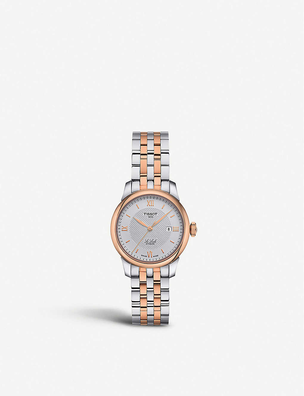 TISSOT: T006.207.22.038.00 Le Locle rose-gold and stainless steel watch