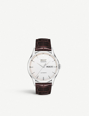 TISSOT T0194301603101 Heritage Visodate stainless steel and leather watch
