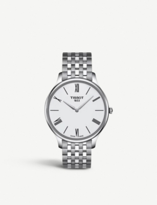 TISSOT T063.409.11.018.00 Tradition stainless steel watch