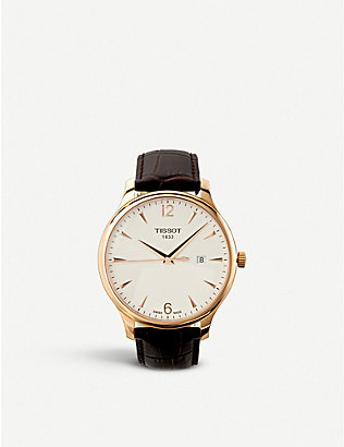 TISSOT: T0636103603700 T-Classic rose gold stainless steel watch