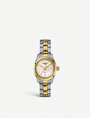 TISSOT: T1010102211100 stainless steel and gold PVD watch