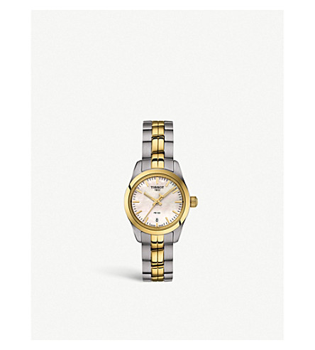 Tissot T1010102211100 STAINLESS STEEL AND GOLD PVD WATCH