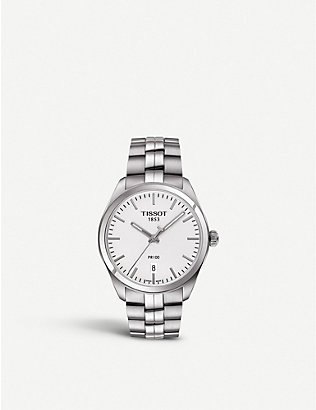 TISSOT: T101.410.11.031.00 PR 100 stainless steel watch