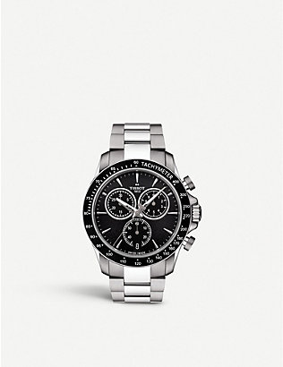 TISSOT: T106.417.11.051.00 V8 stainless steel chronograph watch