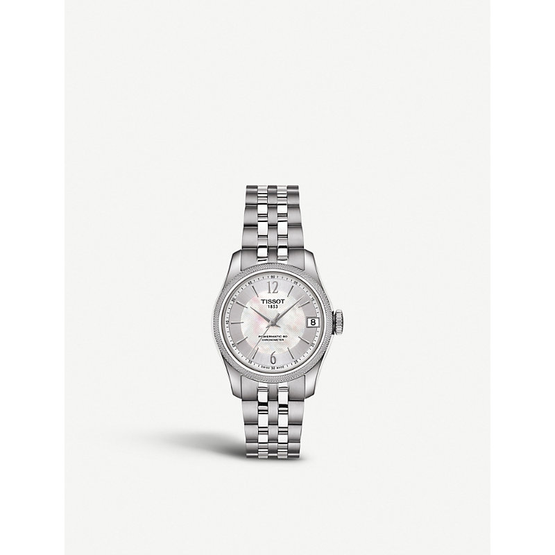 TISSOT T1082081111700 Ballade Stainless Steel And Mother-Of-Pearl Automatic Watch in Silver