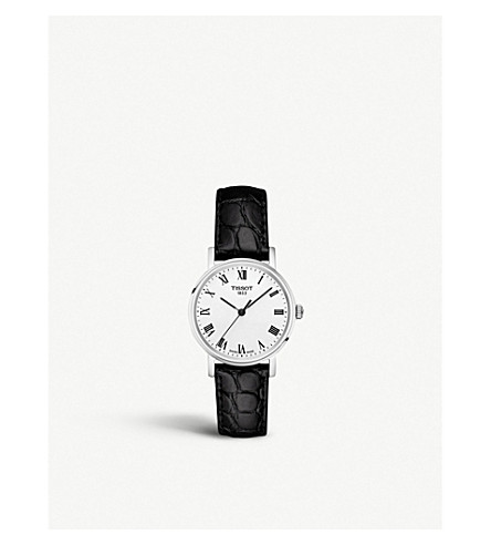 TISSOT T109.210.16.033.00 Everytime stainless steel and leather watch small 150b5dc1cc