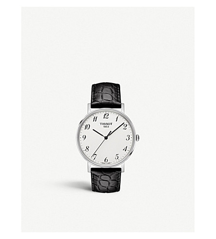 Tissot T109.410.16.032.00 EVERYTIME STAINLESS STEEL AND LEATHER WATCH