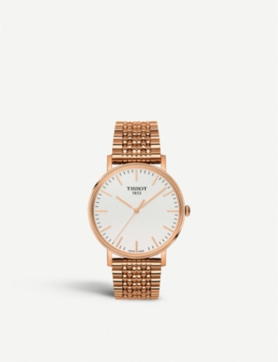 TISSOT T109.410.33.031.00 rose gold-plated stainless steel watch