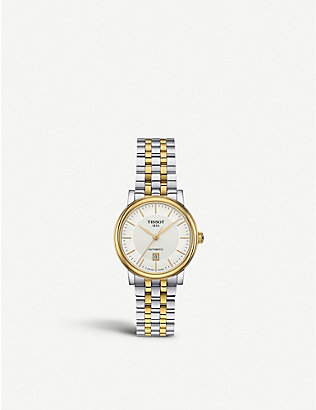 TISSOT: T122.207.22.031.00 Carson stainless steel and yellow-gold PVD watch