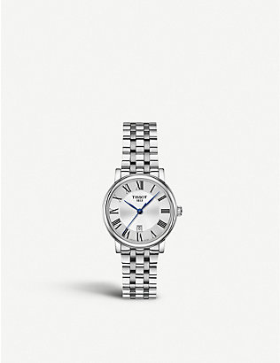 TISSOT: T1092103603300 Carson stainless steel watch