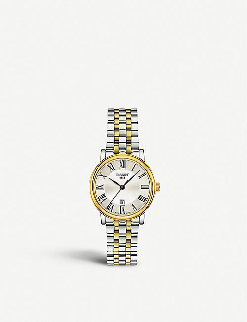 TISSOT: T1222102203300 Carson yellow-gold and stainless steel watch