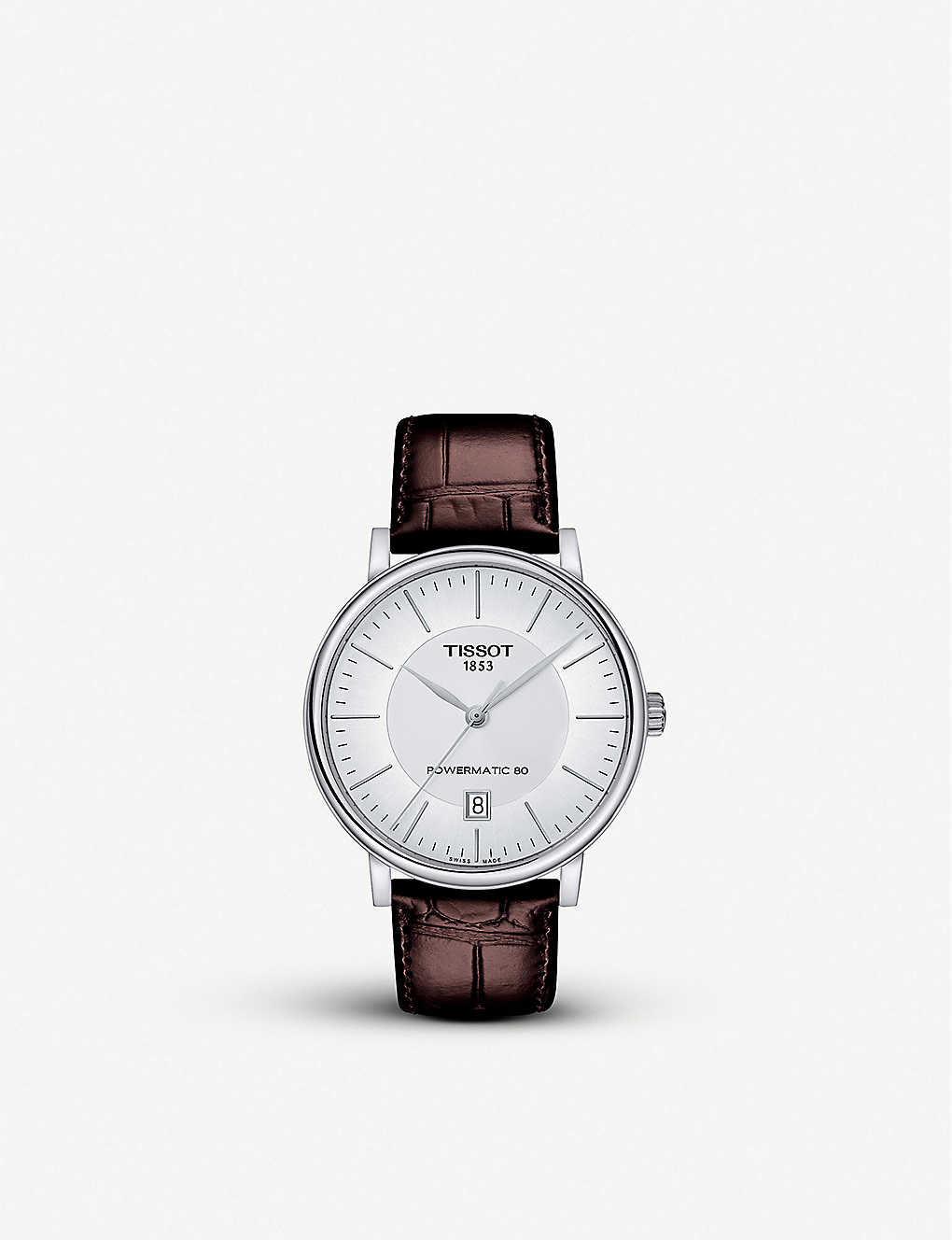 TISSOT: T122.407.16.031.00 Carson stainless steel and alligator-embossed leather watch