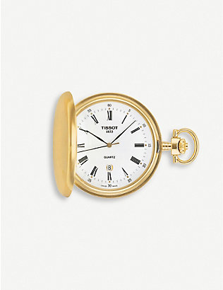 TISSOT: T83.4.553.13 Savonnette gold-plated pocket watch