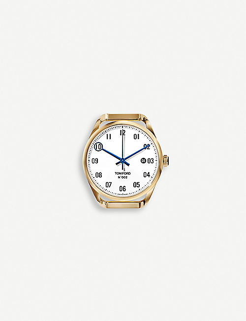 TOM FORD: TFT002 005 08 18ct yellow-gold watch