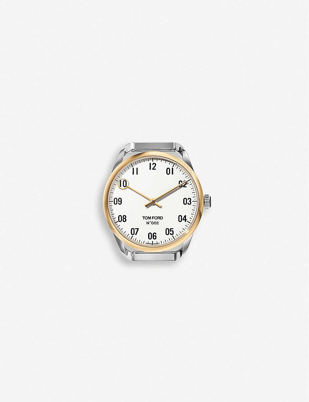 TOM FORD: TFT002 009 stainless steel and yellow-gold quartz watch
