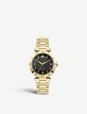 VIVIENNE WESTWOOD VV206BKGD Montagu gold-plated stainless steel watch