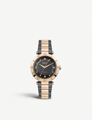 VIVIENNE WESTWOOD VV206RSGN Montagu two-tone rose gold-plated stainless steel watch