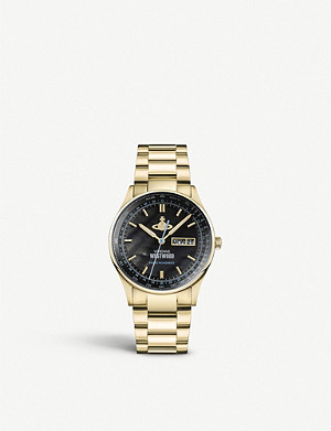 VIVIENNE WESTWOOD VV207BKGD Cranbourne gold-plated stainless steel watch