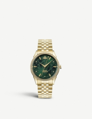 VIVIENNE WESTWOOD VV208GDGD The Wallace gold-plated stainless steel watch