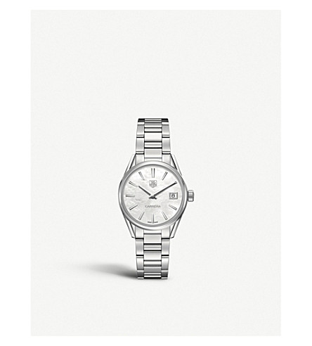 Tag Heuer WAR1311.BA0778 Carrera stainless steel and mother-of-pearl watch