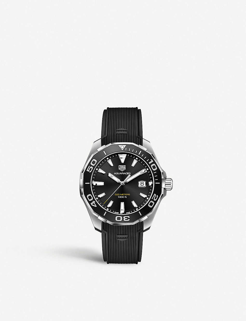 efb554a1755 TAG HEUER - WAY101A.FT6141 Aquaracer stainless steel and rubber ...