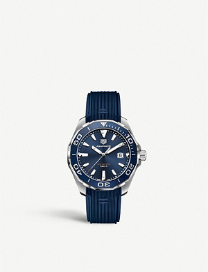 TAG HEUER WAY101C.FT6153 Aquaracer stainless steel and rubber strap watch