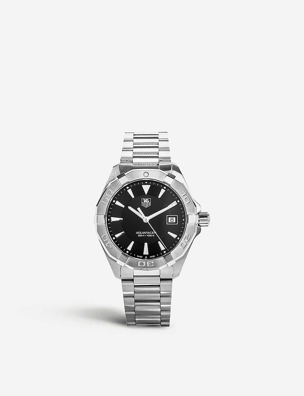 TAG HEUER: Way1110.ba0910 Aquaracer stainless steel watch