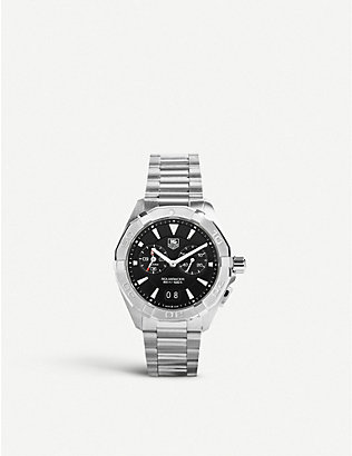 TAG HEUER: WAY111Z.BA0910 Aquaracer Alarm stainless steel watch