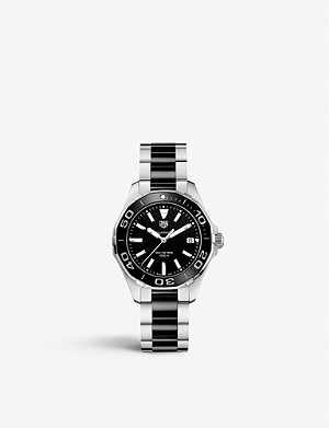 TAG HEUER WAY131A.BA0913 Aquaracer stainless steel and ceramic watch