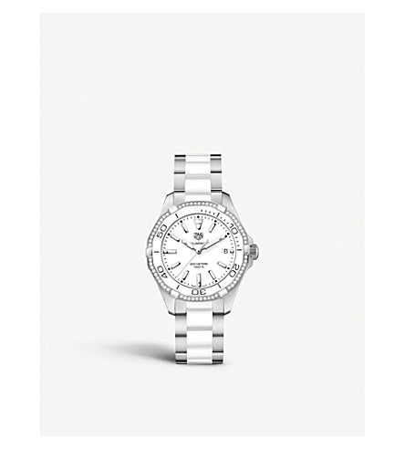 Tag Heuer WAY131H.BA0914 Acquaracer stainless steel and diamond watch