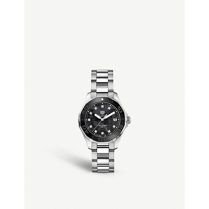 TAG HEUER | WAY131M.BA0748 Aquaracer Stainless Steel And Diamond Watch | Goxip