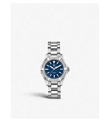 Tag Heuer WAY131N.BA0748 Aquaracer stainless steel and diamond watch