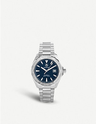 TAG HEUER: Way2112.ba0910 Aquaracer Calibre stainless steel watch