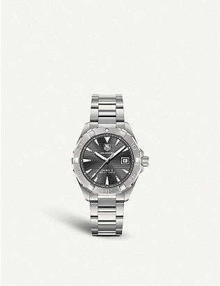 TAG HEUER: Way2113.ba0910 Aquaracer Calibre stainless steel watch