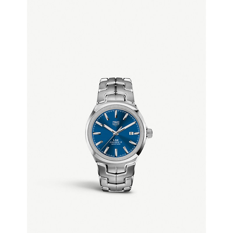 TAG HEUER | WBC2110.BA0603 Link Calibre 5 Stainless Steel Watch | Goxip