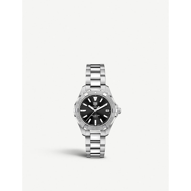TAG HEUER | WBD1310.BA0740 Aquaracer Steel And Sapphire-Crystal Watch | Goxip