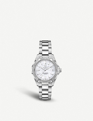 TAG HEUER WBD1311.BA0740 Aquaracer Lady Nacre steel and mother of pearl quartz watch